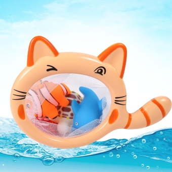 Harga Fishing Game Cat Shape Fish Net Bath Toy - intl