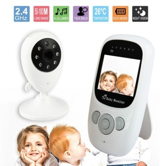 Harga Acediscoball 2.4 GHz Wireless LCD Digital Video Audio Security Temperature Monitoring Baby Monitor Camera(Export)