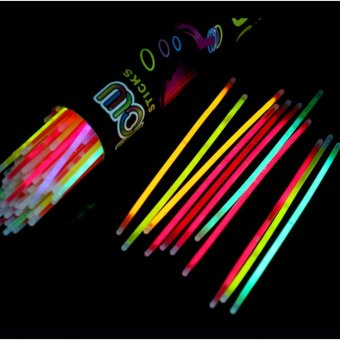 Harga 100Pcs Mixed Glow Sticks Bracelets Light Party Luminous Rods Glow in the Dark - intl