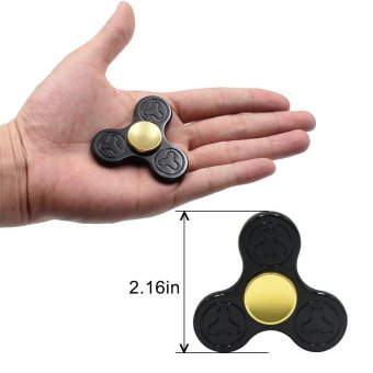 Harga Titanium Alloy EDC Hand Fidget Spinner High Speed Focus Toy Gift Black - intl