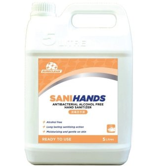 Harga Sureclean Sanihands Childsafe Foamy Hand Sanitizer 5 Litre Refill