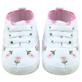 Harga Baby Crioes Soft Sole Shoes (White) - intl
