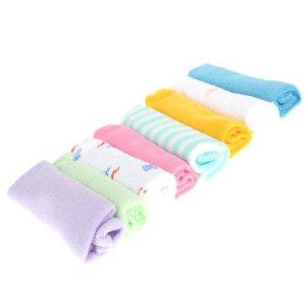 8Pcs Baby Infant Soft Bath Towel Washcloth Wipe Cloth(Export) - 2