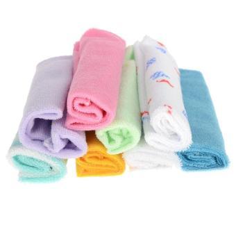 8Pcs Baby Infant Soft Bath Towel Washcloth Wipe Cloth(Export) - 3