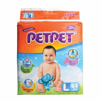 Harga PETPET HALO Mega Pack Baby Diapers L64's x 3 Packs