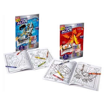 Harga Crayola Color Alive Action Coloring Pages - Combo Set - Skylanders and Mythical Creatures