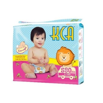 Harga KCA Baby Diapers Size S (3-7kg) 4 packs X 80 pcs