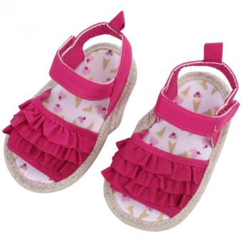 Harga Infant Soft Sole Princess Sandals (Rose Red)