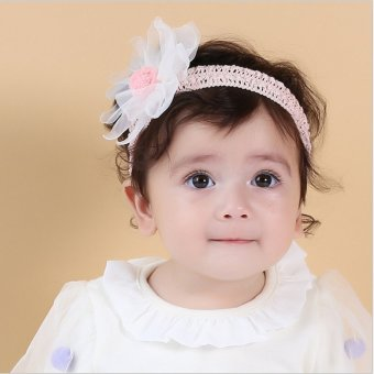 Harga Cotton stretch flower hair band baby hair band korea years old female baby lace headdress hundred days photographing