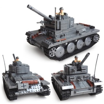 Harga Building Blocks set Compatible With Lego DIY Block Century Military PZKPFW-II Tanks Toy For Boy Educational Bricks Toys - intl
