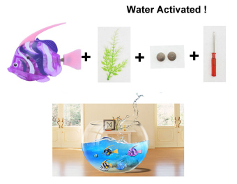 Harga New arrivals Robo Electric Fish Toy Gifts for Kids-Light,Water Activated !