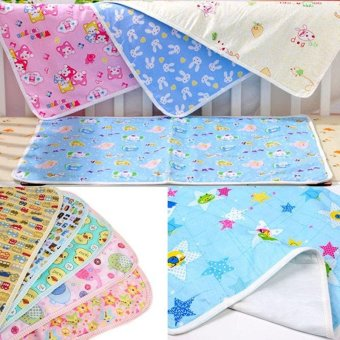Harga Baby Infant Diaper Nappy Urine Mat Waterproof Bedding Cover Pad Yellow S - intl