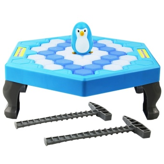 Harga To save the penguin knock ice broken ice station large building blocks educational children's desktop game parent-child interactive toys