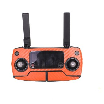 Harga Luxury Carbon Fiber Skin Wrap Waterproof Stickers For DJI Mavic Pro Accessories Orange - intl