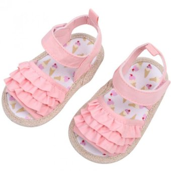 Harga Infant Soft Sole Princess Sandals (Pink)