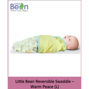 Harga Little Bean Swaddle - Cotton- Warm Peace (L)