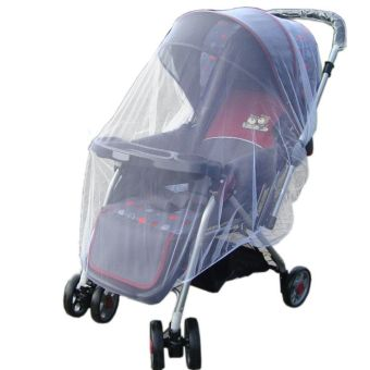 Harga New Infants Baby Stroller Pushchair Mosquito Insect Net Safe Mesh Buggy Cover (White)
