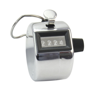 Harga 4 Digit Number Hand Held Tally Counter Counting Manual Palm Golf Clicker New
