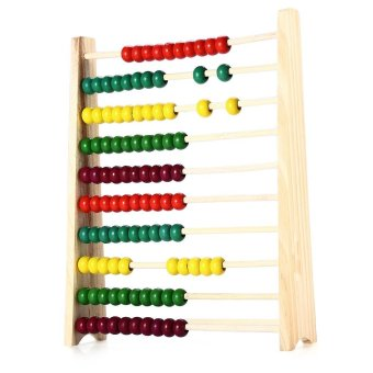 Harga Wooden Beads Abacus Maths Teaching Tool Educational Toy for Children - intl