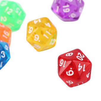 GEM DICE SETS - Multi Color Poly Dice D20 RPG D&D 6PCS - intl - 2