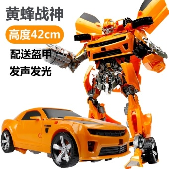 Harga Transforming toys diamond 4 large police big wasp sound and light version of the large police car Machine Man Boy Model