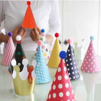 Korean mini children's birthday party birthday celebration decorative paper triangle hat birthday hat 11, only installed