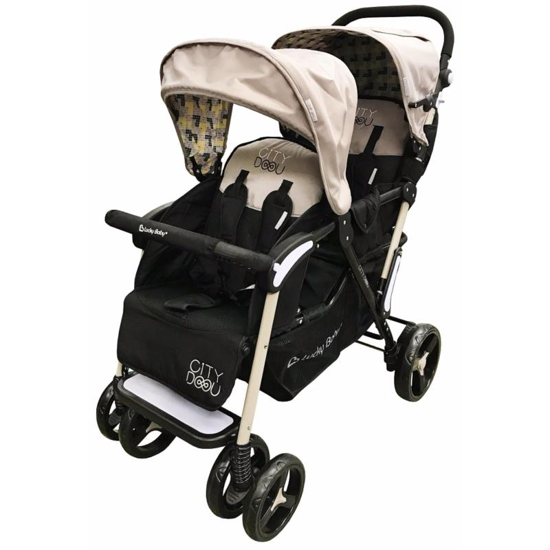 Lucky Baby® City Duo Twin Baby Stroller Singapore