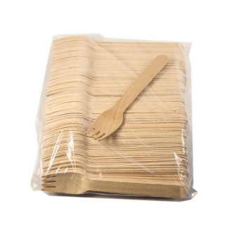 MagiDeal 100pcs Birch Wooden Disposable Cutlery Kit Wood Forks - intl - 3
