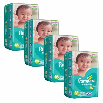 Pampers Baby Dry Diapers M52's (6-11kg) x 4 Packs