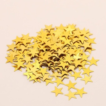 For sale lalang 600pcs romantic wedding party love heart confetti pentagram bright piece birthday party confetti wedding decoration gold intl junglespirit Gallery
