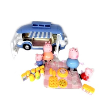 peppa pig family adventure camping car ornaments doll cutlery peppapig family toys lazada. Black Bedroom Furniture Sets. Home Design Ideas