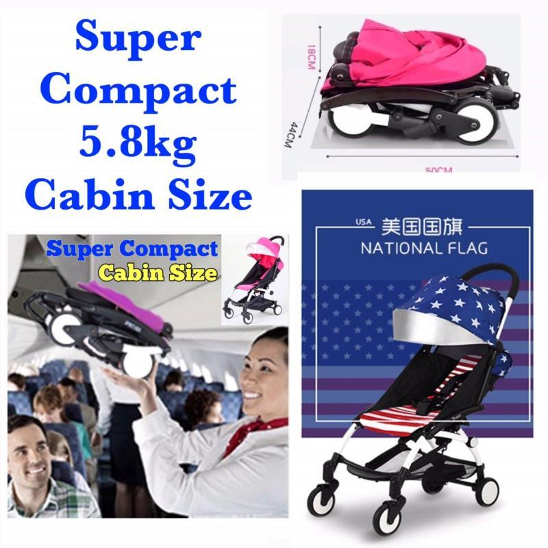 Super Compact Cabin Size Topbi Bibi Love Stroller / Pram 5.8kg -  American Flag Singapore
