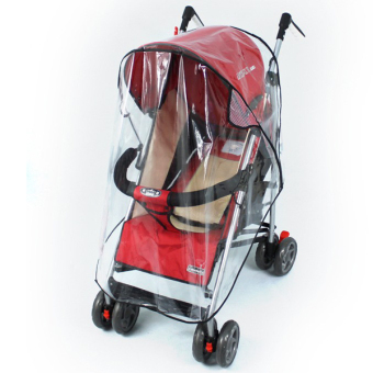 Universal Pushchair Stroller Pram Buggy Transparent Rainproof CoverRain Shade - 3