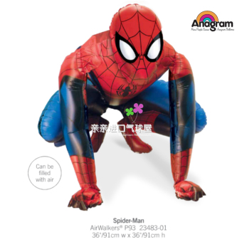 US aluminum foil anagram children's party imported aluminum balloons 3D stand Spider Man Superman walking balloon