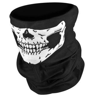 Yika Halloween Cosplay Balaclava Costume Skeleton Ghost Skull FaceMask ( Black)