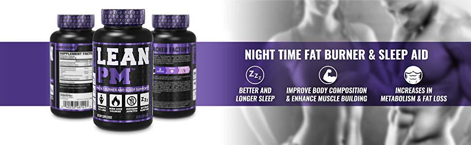 Jacked Factory Lean Pm Night Time Fat Burner Sleep Aid Supplement Appetite Suppressant For Men And Women 60 Stimulant Free Veggie Weight Loss