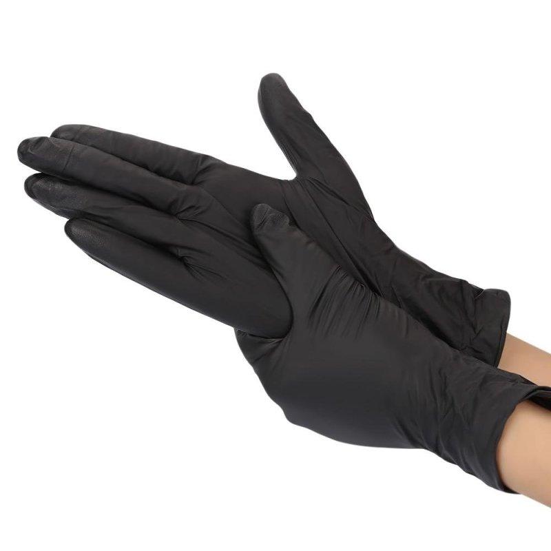 Buy 100pcs Disposable Powder Free Black Nitrile Gloves - intl Singapore