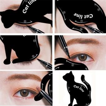 2 Pcs New Cat Line Eye Makeup Eyeliner Stencils - intl - 4