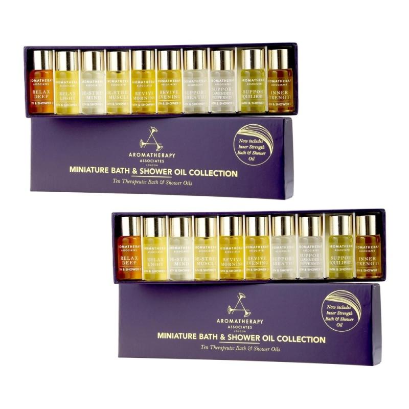 Buy 2 SETS Aromatherapy Associates Miniature Bath & Shower Oil Collection 10 x 3ml - intl Singapore