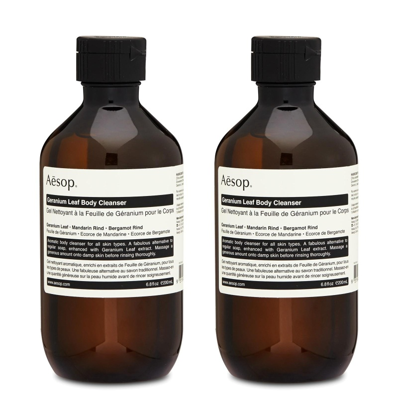 Buy 2 x Aesop Geranium Leaf Body Cleanser 6.8oz, 200ml - intl Singapore
