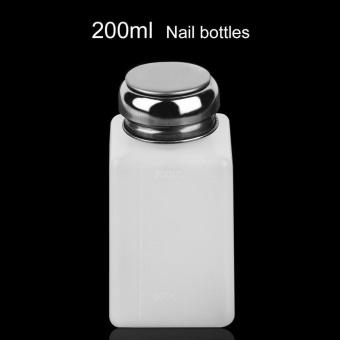 200ML Liquid Alcohol Press Nail Polish Remover Dispenser Pumping Bottle - intl - 3