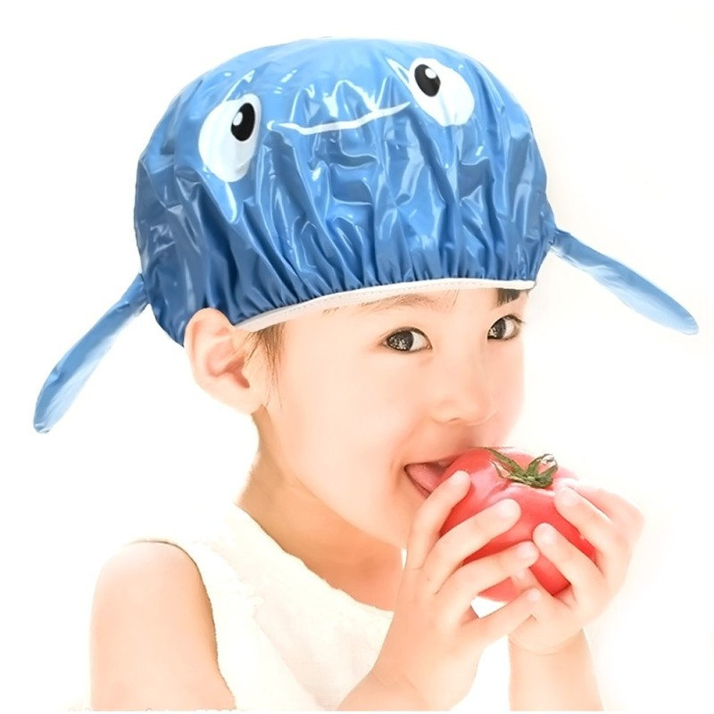 Buy 3D Cartoon Animals Kids Children Lovely Waterproof Shower Cap Hat Spa Bathing Caps Bouffant Cap with Flexible Elastic Blue Dolphin (Intl) Singapore