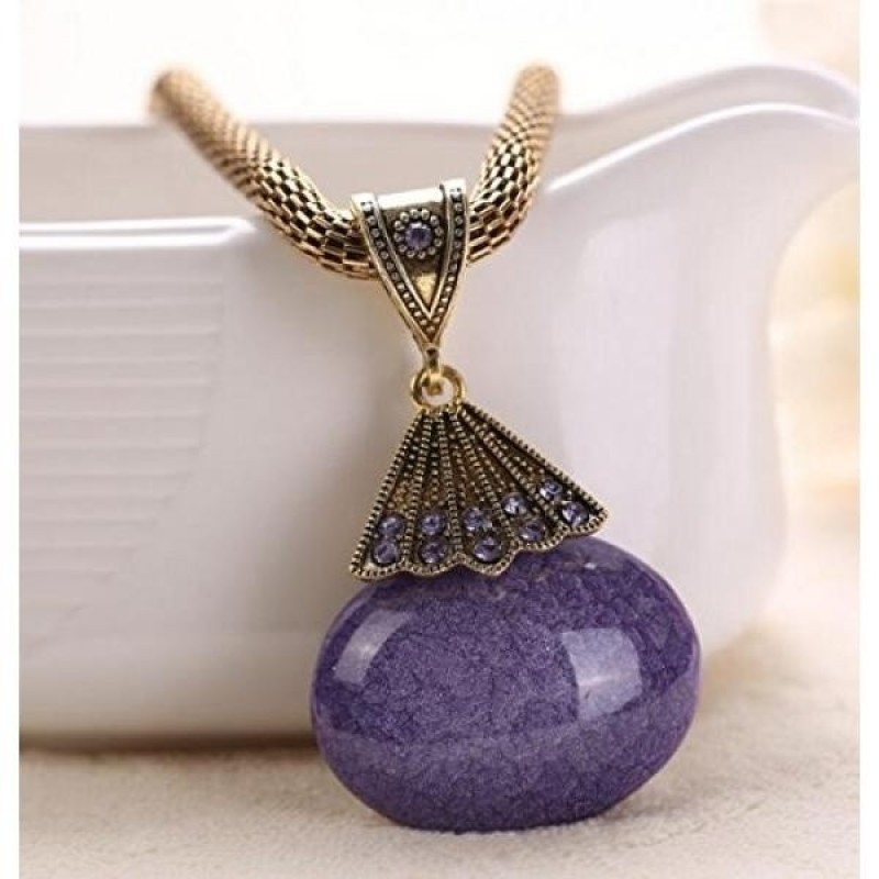 Buy A&C Fashion and Charm Purple Peacock Bohemia Necklace for Women. Indian Weave Necklace for Girl. - intl Singapore