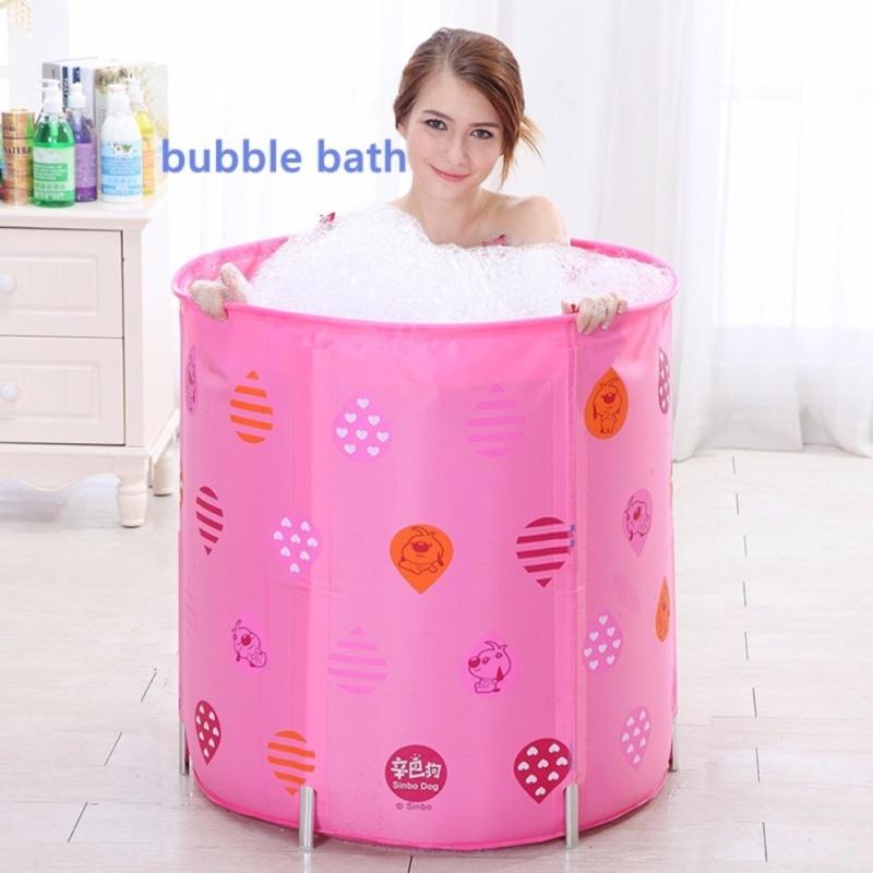 Buy Adult Portable Folding Inflatable Bath Tub with Air Pump for Spa/Milk Bath/Petal Baths,5 Height Adjustment,PINK - intl Singapore