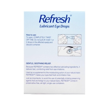 Allergan Refresh Lubricant Eye Drops 30sx0.4ml PRESERVATIVE-FREE - 2