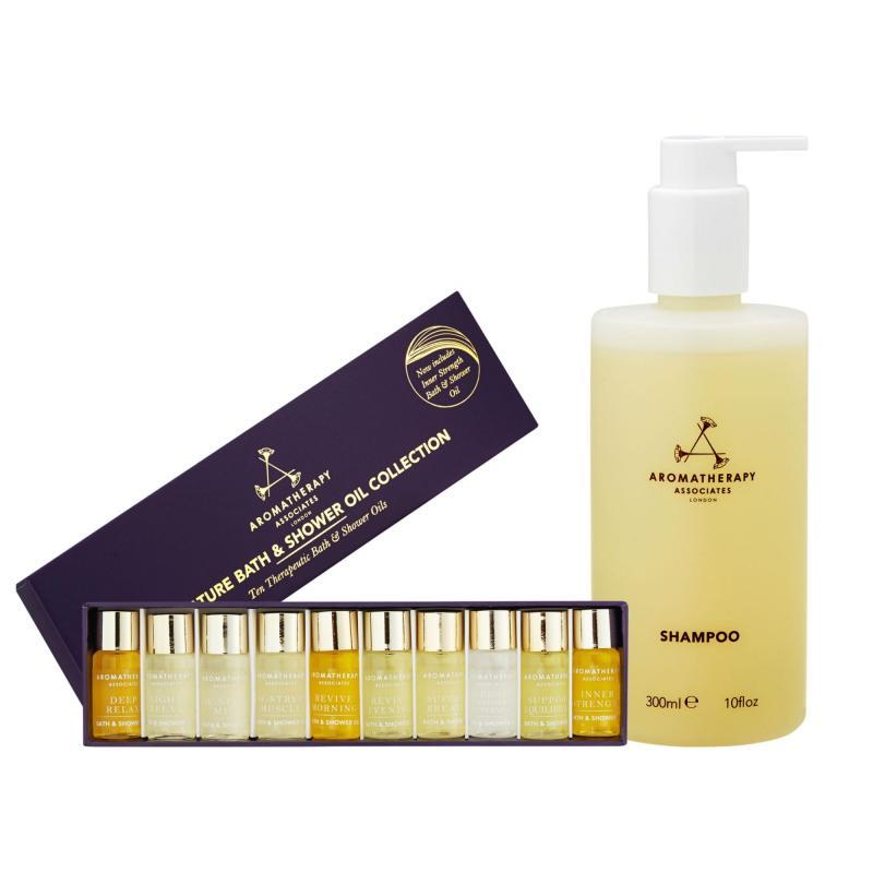 Buy Aromatherapy Associates Shower Set (Miniature Bath Oil Collection + Shampoo 300ml) - intl Singapore