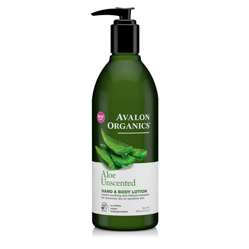 Buy Avalon Organics Unscented Aloe Hand & Body Lotion 12 fl oz Singapore