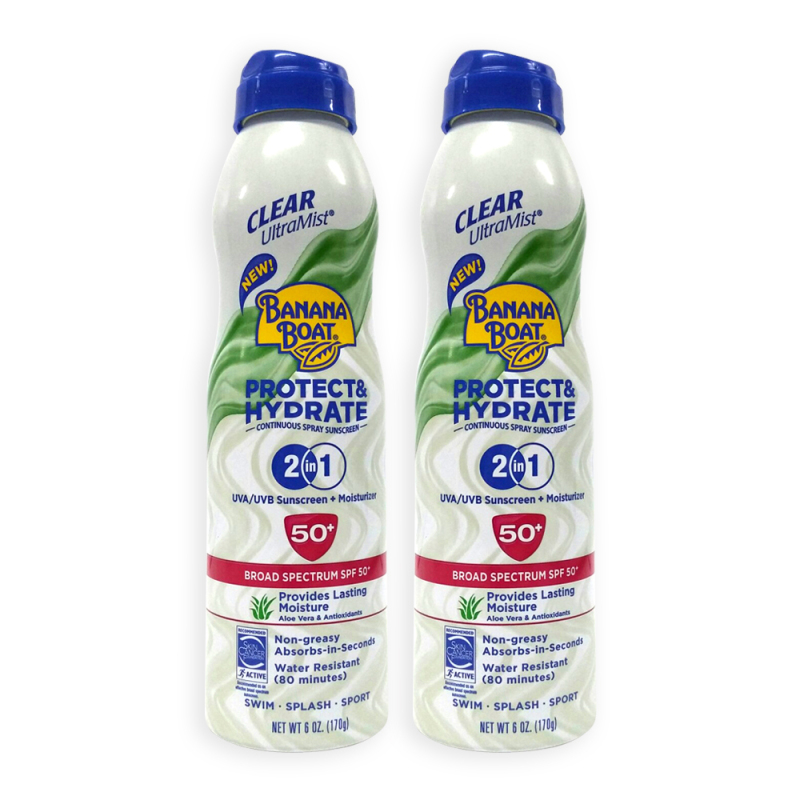 Buy Banana Boat SPF 50+ Protect And Hydrate 2 in 1 Sunscreen + Moisturiser 170g x 2 Bottles - 9208 Singapore