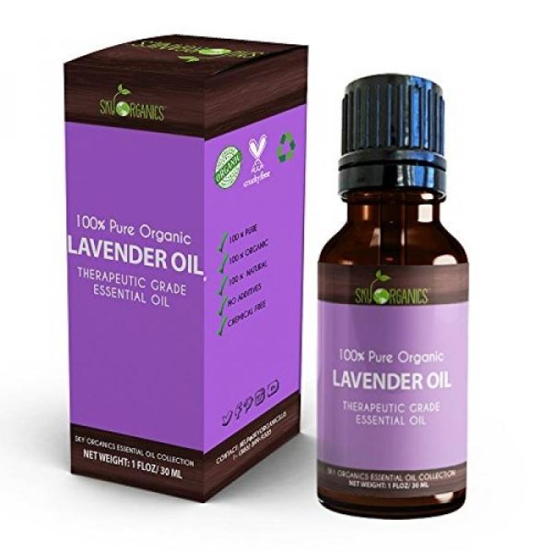 Buy Best Lavender Essential Oil By Sky Organics-100% Organic, Pure Therapeutic French Lavender Oil For Diffuser, Aromatherapy, Headache, Pain, Meditation, Anxiety, Sleep-Perfect For Candles & Massage 1oz Singapore