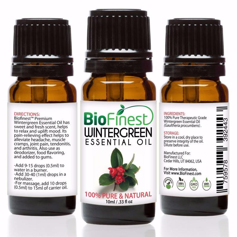 Buy Biofinest [2 Packs] Wintergreen Essential Oil (100% Pure Therapeutic Grade) 10ml Singapore